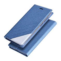 Schutzhülle Stand Tasche Leder für Huawei Honor V9 Blau