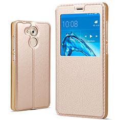Schutzhülle Stand Tasche Leder für Huawei Honor V9 Play Gold