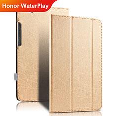 Schutzhülle Stand Tasche Leder für Huawei Honor WaterPlay 10.1 HDN-W09 Gold