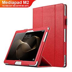 Schutzhülle Stand Tasche Leder für Huawei MediaPad M2 10.0 M2-A01 M2-A01W M2-A01L Rot