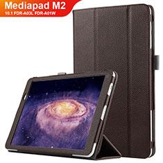 Schutzhülle Stand Tasche Leder für Huawei MediaPad M2 10.1 FDR-A03L FDR-A01W Braun