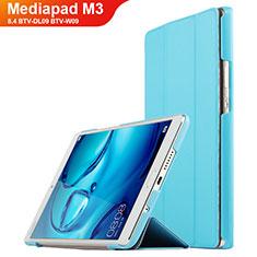 Schutzhülle Stand Tasche Leder für Huawei Mediapad M3 8.4 BTV-DL09 BTV-W09 Cyan