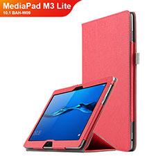 Schutzhülle Stand Tasche Leder für Huawei MediaPad M3 Lite 10.1 BAH-W09 Rot
