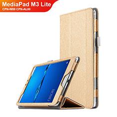 Schutzhülle Stand Tasche Leder für Huawei MediaPad M3 Lite 8.0 CPN-W09 CPN-AL00 Gold