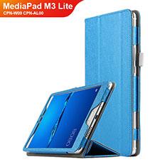Schutzhülle Stand Tasche Leder für Huawei MediaPad M3 Lite 8.0 CPN-W09 CPN-AL00 Hellblau