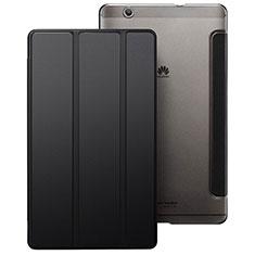 Schutzhülle Stand Tasche Leder für Huawei MediaPad M3 Schwarz