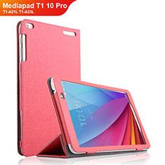 Schutzhülle Stand Tasche Leder für Huawei Mediapad T1 10 Pro T1-A21L T1-A23L Pink