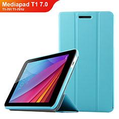 Schutzhülle Stand Tasche Leder für Huawei Mediapad T1 7.0 T1-701 T1-701U Hellblau