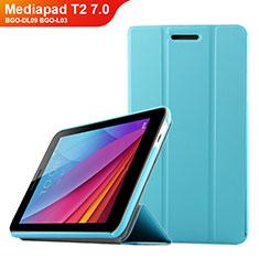 Schutzhülle Stand Tasche Leder für Huawei Mediapad T2 7.0 BGO-DL09 BGO-L03 Hellblau