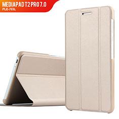 Schutzhülle Stand Tasche Leder für Huawei MediaPad T2 Pro 7.0 PLE-703L Gold