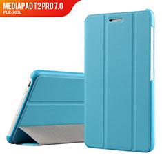 Schutzhülle Stand Tasche Leder für Huawei MediaPad T2 Pro 7.0 PLE-703L Hellblau