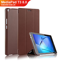 Schutzhülle Stand Tasche Leder für Huawei MediaPad T3 8.0 KOB-W09 KOB-L09 Braun