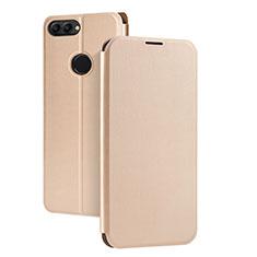 Schutzhülle Stand Tasche Leder für Huawei P Smart Gold
