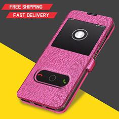 Schutzhülle Stand Tasche Leder für Huawei Y6 (2019) Pink