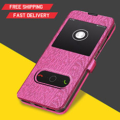 Schutzhülle Stand Tasche Leder für Huawei Y6s Pink