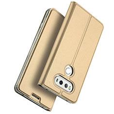 Schutzhülle Stand Tasche Leder für LG G6 Gold