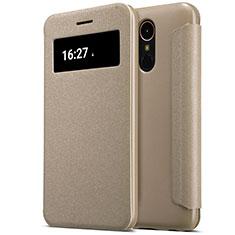 Schutzhülle Stand Tasche Leder für LG K10 (2017) Gold