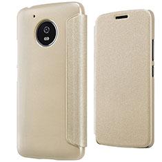 Schutzhülle Stand Tasche Leder für Motorola Moto G5 Gold
