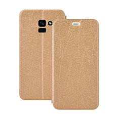 Schutzhülle Stand Tasche Leder für Samsung Galaxy A5 (2018) A530F Gold