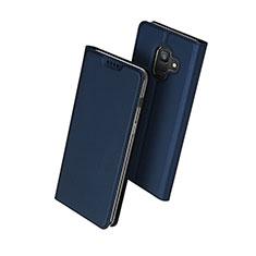 Schutzhülle Stand Tasche Leder für Samsung Galaxy A6 (2018) Blau