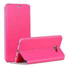 Schutzhülle Stand Tasche Leder für Samsung Galaxy C7 Pro C7010 Pink