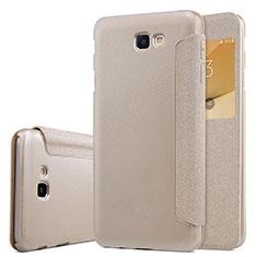 Schutzhülle Stand Tasche Leder für Samsung Galaxy J5 Prime G570F Gold