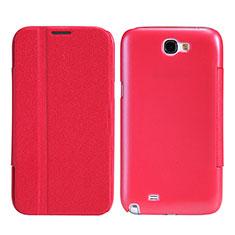 Schutzhülle Stand Tasche Leder für Samsung Galaxy Note 2 N7100 N7105 Rot