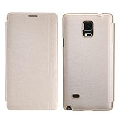 Schutzhülle Stand Tasche Leder für Samsung Galaxy Note 4 SM-N910F Gold
