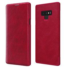 Schutzhülle Stand Tasche Leder für Samsung Galaxy Note 9 Rot