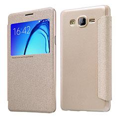 Schutzhülle Stand Tasche Leder für Samsung Galaxy On5 G550FY Gold