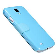 Schutzhülle Stand Tasche Leder für Samsung Galaxy S4 IV Advance i9500 Blau