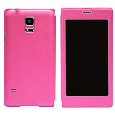 Schutzhülle Stand Tasche Leder für Samsung Galaxy S5 G900F G903F Pink
