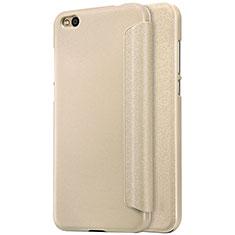 Schutzhülle Stand Tasche Leder für Xiaomi Mi 5C Gold