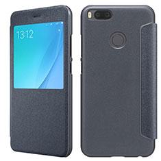 Schutzhülle Stand Tasche Leder für Xiaomi Mi A1 Schwarz