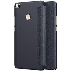 Schutzhülle Stand Tasche Leder für Xiaomi Mi Max 2 Schwarz