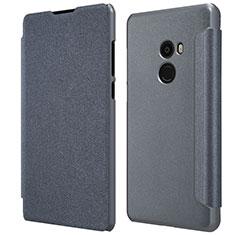 Schutzhülle Stand Tasche Leder für Xiaomi Mi Mix 2 Schwarz