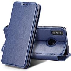 Schutzhülle Stand Tasche Leder für Xiaomi Mi Mix 3 Blau