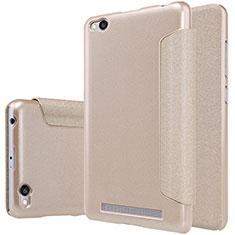 Schutzhülle Stand Tasche Leder für Xiaomi Redmi 3 Gold