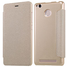 Schutzhülle Stand Tasche Leder für Xiaomi Redmi 3S Gold