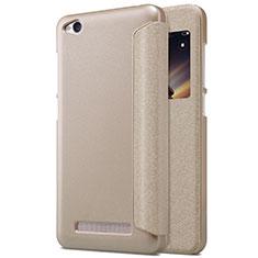 Schutzhülle Stand Tasche Leder für Xiaomi Redmi 4A Gold