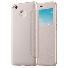 Schutzhülle Stand Tasche Leder für Xiaomi Redmi 4X Gold