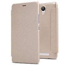 Schutzhülle Stand Tasche Leder für Xiaomi Redmi Note 2 Gold