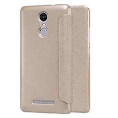 Schutzhülle Stand Tasche Leder für Xiaomi Redmi Note 3 MediaTek Gold
