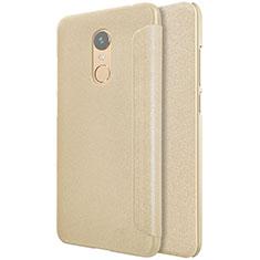 Schutzhülle Stand Tasche Leder für Xiaomi Redmi Note 5 Indian Version Gold