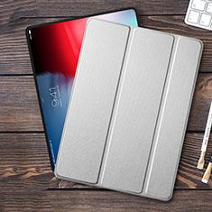 Schutzhülle Stand Tasche Leder L01 für Apple iPad Pro 12.9 (2018) Silber