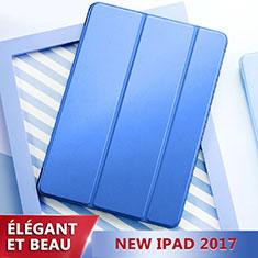 Schutzhülle Stand Tasche Leder L01 für Apple New iPad 9.7 (2017) Blau