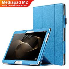 Schutzhülle Stand Tasche Leder L01 für Huawei MediaPad M2 10.0 M2-A01 M2-A01W M2-A01L Blau