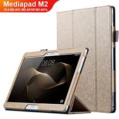 Schutzhülle Stand Tasche Leder L01 für Huawei MediaPad M2 10.0 M2-A01 M2-A01W M2-A01L Gold
