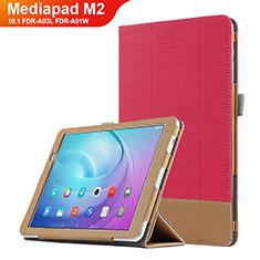 Schutzhülle Stand Tasche Leder L01 für Huawei MediaPad M2 10.1 FDR-A03L FDR-A01W Rot