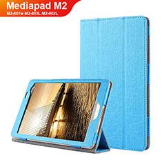 Schutzhülle Stand Tasche Leder L01 für Huawei Mediapad M2 8 M2-801w M2-803L M2-802L Blau